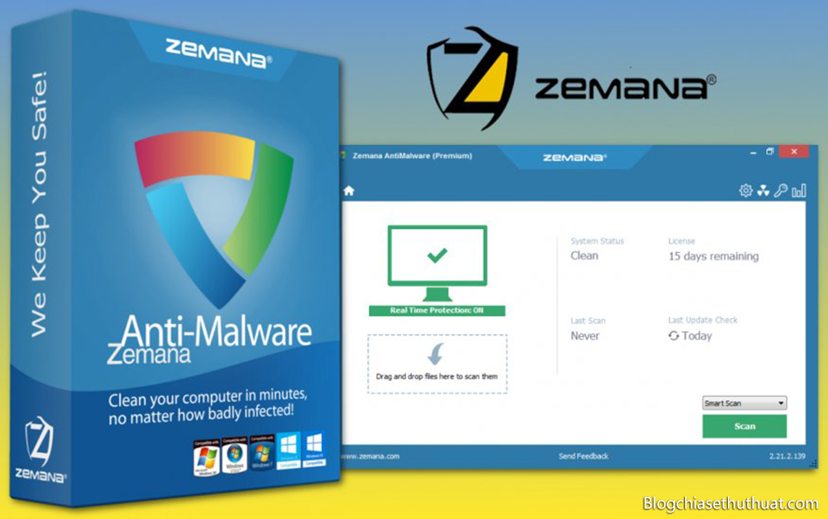 Bản quyền phần mềm diệt virus Zemana AntiMalware Premium 2018
