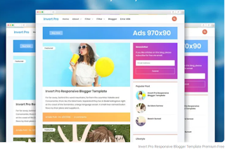 Download Invert Pro Responsive Blogger Template Premium Free