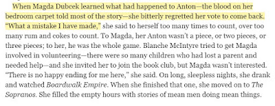 """When Magda Dubcek learned what had happened to Anton—the blood on her bedroom carpet told most of the story—she bitterly regretted her vote to come back. """"What a mistake I have made,"""""""