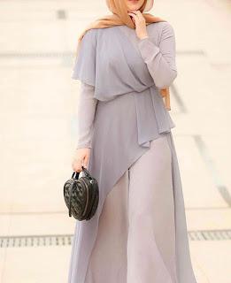 Model baju lebaran muslimah atasan bawahan pastel