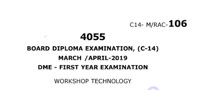 c14 mechanical workshop technology previous question paper march/april 2019