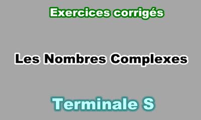 Exercices Corrigés de Nombres Complexes Terminale S PDF
