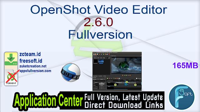 OpenShot Video Editor 2.6.0 Fullversion