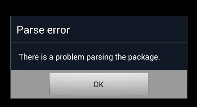 Parse Error | There was a problem parsing the package.