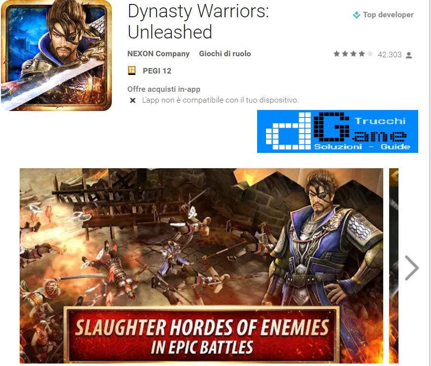 Trucchi Dynasty Warriors: Unleashed Mod Apk Android v1.0.0.5