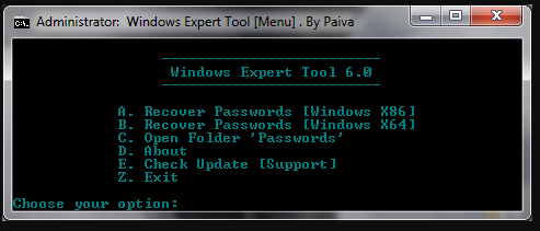 Windows Expert Tool 6.0