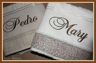 6ddf61316a Sandra Lúcia Bordados  Toalha de banho casal personalizada