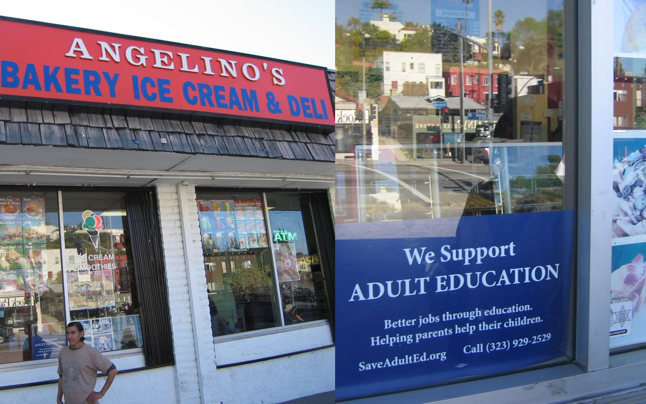 Angelino's Bakery On Sunset 90026 supports LAUSD Adult Education.
