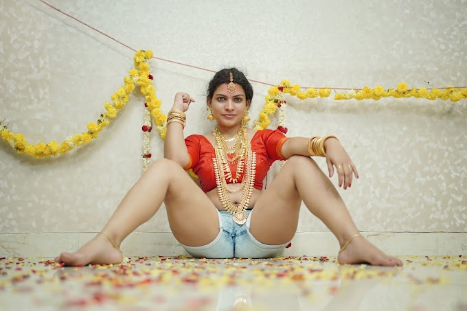 Resmi R Nair As Sensual Indian Bride photoshoot