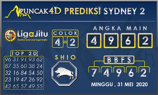 PREDIKSI TOGEL SYDNEY2 PUNCAK4D 31 MEI 2020