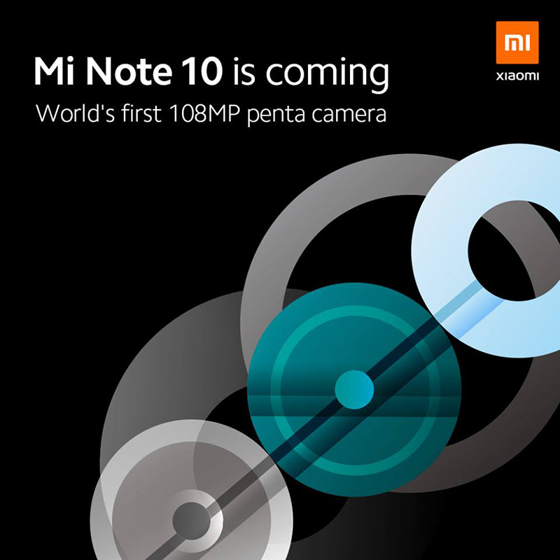 Xiaomi teases Mi Note 10, dubbed as the world's first 108MP penta-camera phone