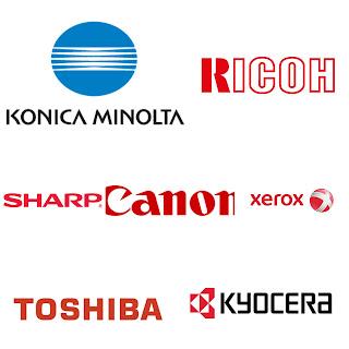 Canon, Konica Minolta, Xerox, Ricoh, Sharp, Kyocera, Toshiba