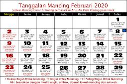 Tanggalan Mancing Bulan Februari 2020 (Mancing Laut}