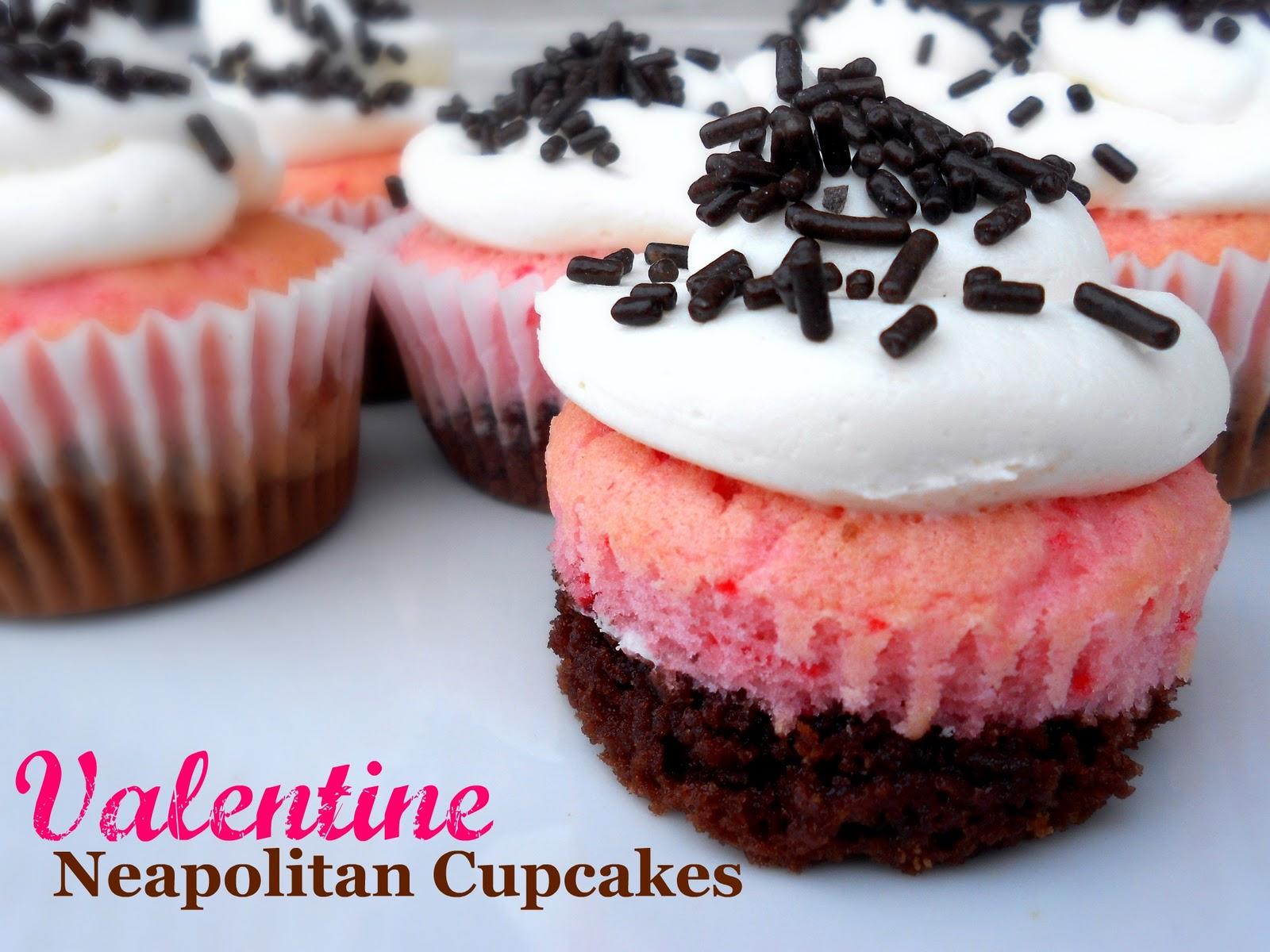 Valentine Neapolitan Cupcakes @ Six Sisters' Stuff