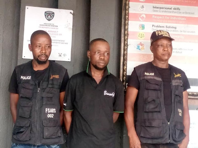 Two SARS Operatives And Civilian Accomplice Arrested In Lagos For Extortion And Intimidation Of Citizens