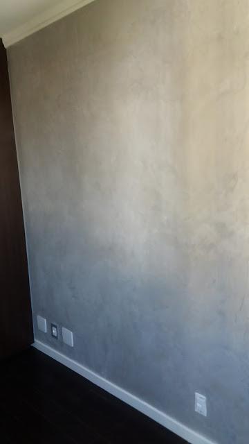 Aplicação de cimento queimado no Morumbi SP