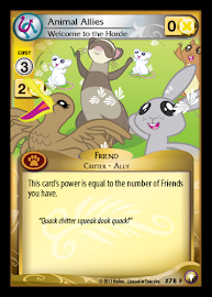 My Little Pony Animal Allies, Welcome to the Horde Equestrian Odysseys CCG Card