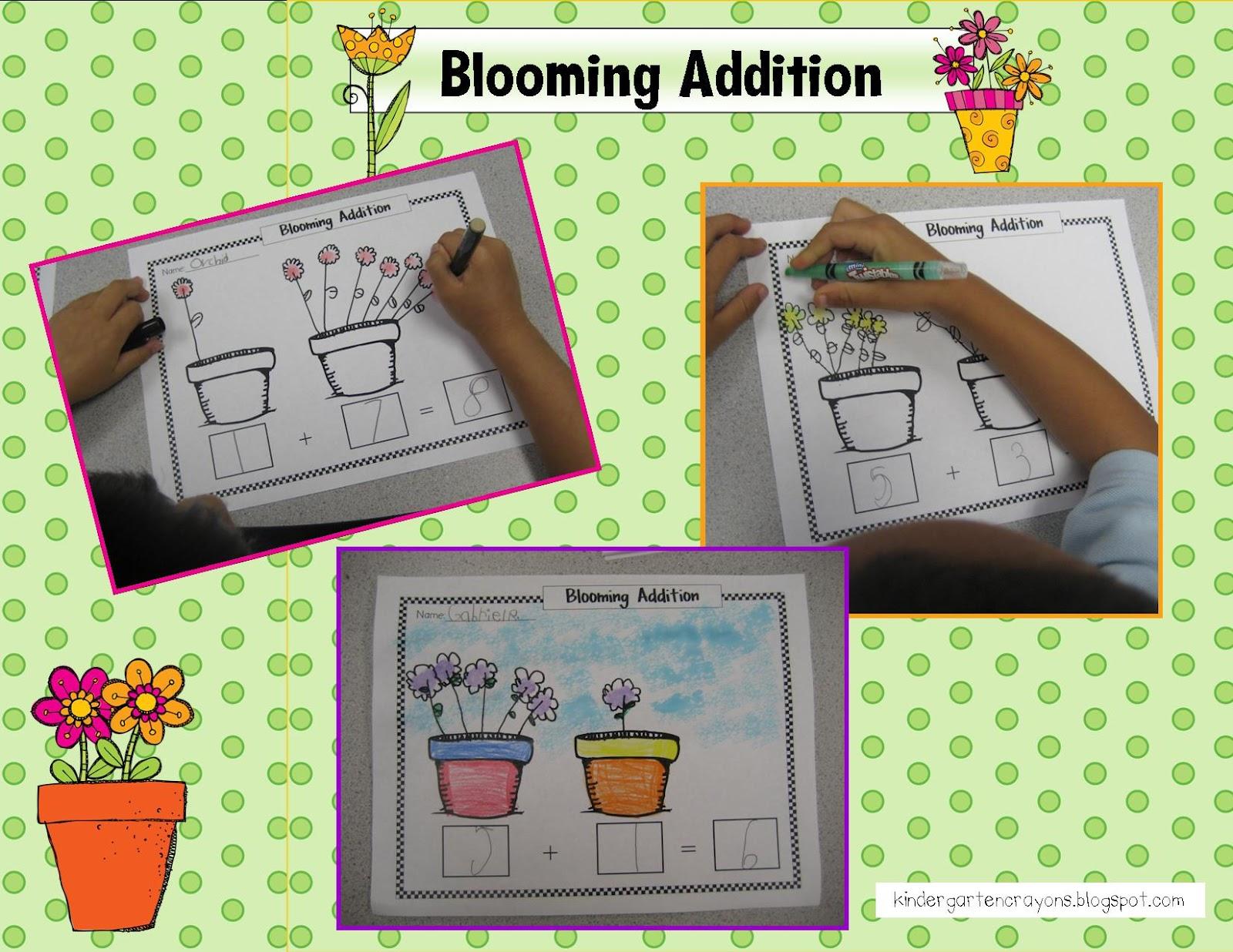 Kindergarten Crayons Blooming Addition