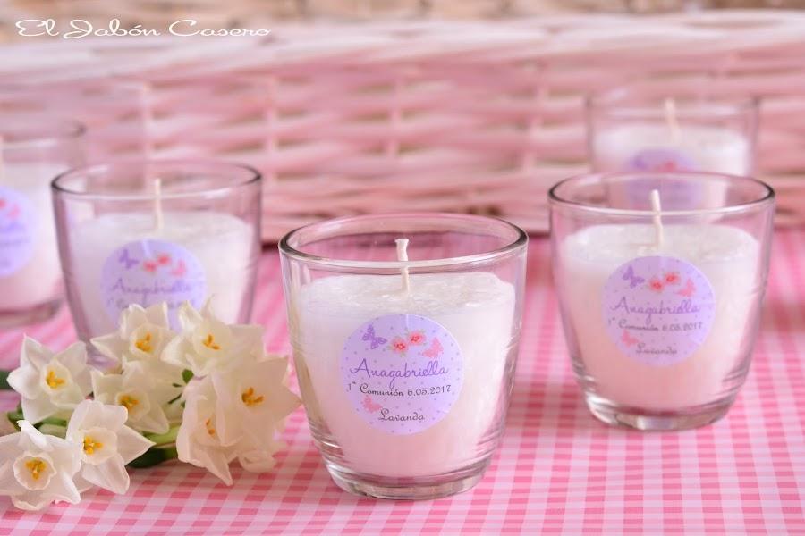 Detalles para invitados comuniones velas aromaticas naturales artesanales