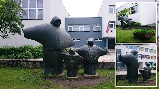 Скульптура в школу плявниеки рига