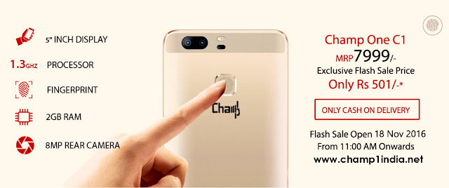 How to Book Champ1 C1 Mobile Online Registration India