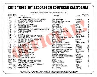 KHJ Boss 30 No. 79 - January 4, 1967