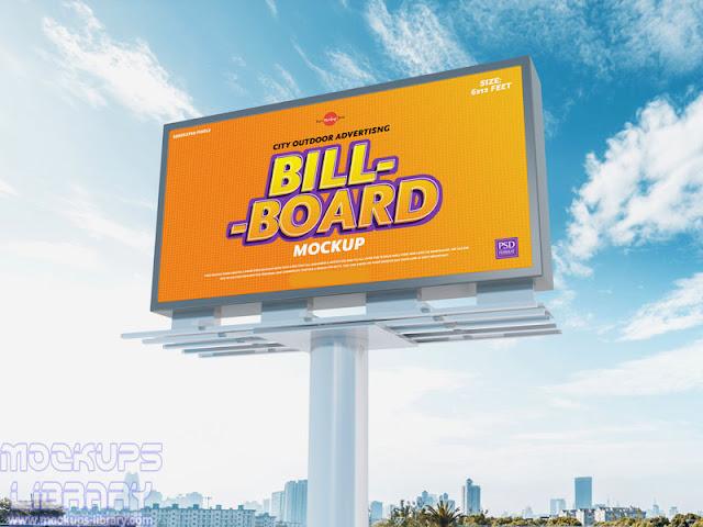 city outdoor billboard mockup