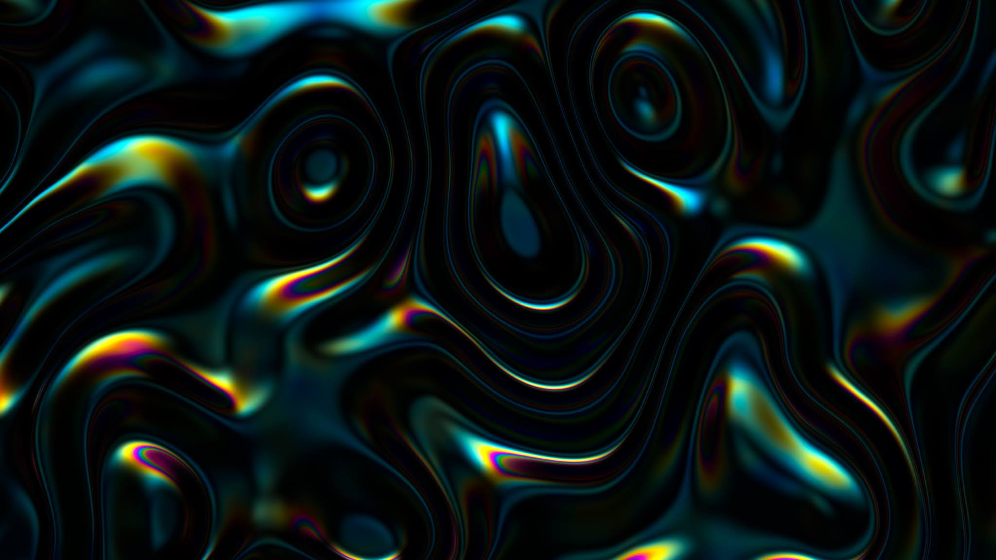 3d abstract iridescent wavy background. vibrant liquid reflection surface. neon holographic fluid distortion Free Photo