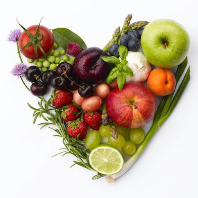 This is a variety of healthy foods for Heart