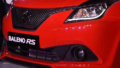 New 2017 Maruti Suzuki Baleno RS close up shot image