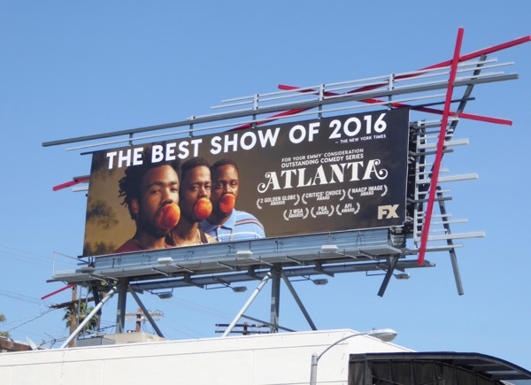 Atlanta season 1 Emmy consideration billboard
