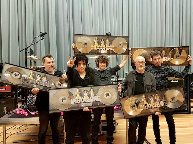 Certificación Doble Disco de Platino para el álbum « 13 » de Indochine