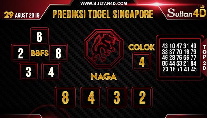 PREDIKSI TOGEL SINGAPORE SULTAN4D 29 AGUSTUS 2019