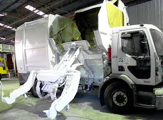 Beceite, camión, recogida residuos