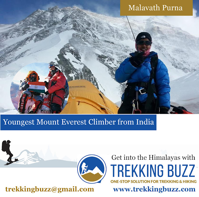 Malavath Purna Youngest Mount Everest Climber of the World from India