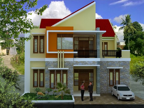 Desain Rumah Minimalis 2 Lantai Modern Sederhana