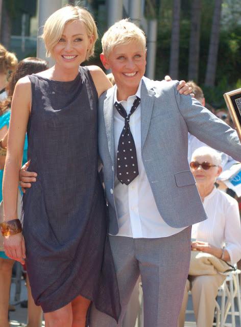 Portia de Rossi and DeGeneres in September 2012