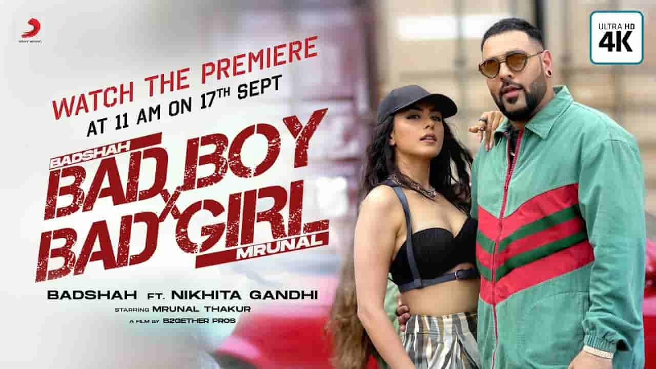 Bad boy x bad girl lyrics  Badshah x Nikhita Gandhi Hindi Song