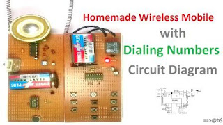 homemade wireless mobile phone with dialing number
