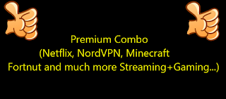 Premium Combo (Netflix, NordVPN, Minecraft , Fortnut and much more Streaming+Gaming...)