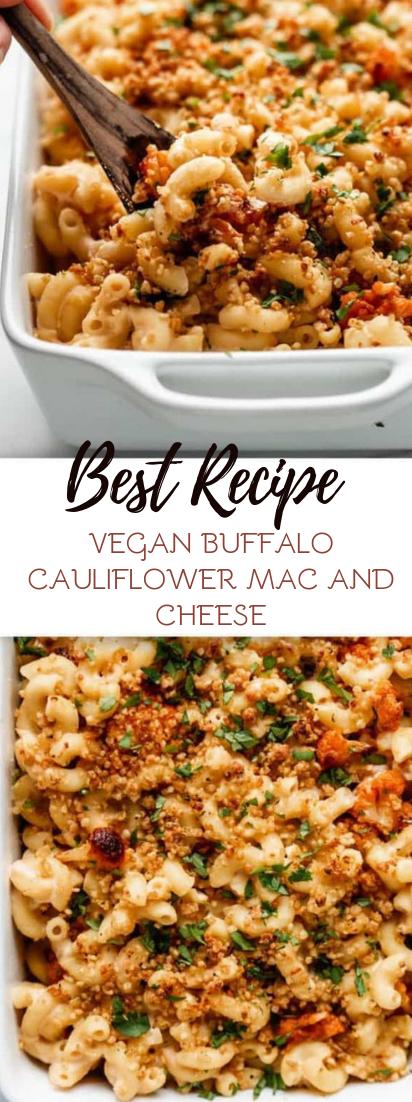 VEGAN BUFFALO CAULIFLOWER MAC AND CHEESE #vegan #recipevegetarian