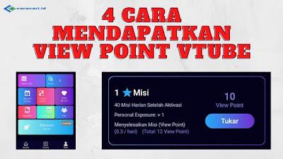 4 Cara Mendapatkan View Point Vtube