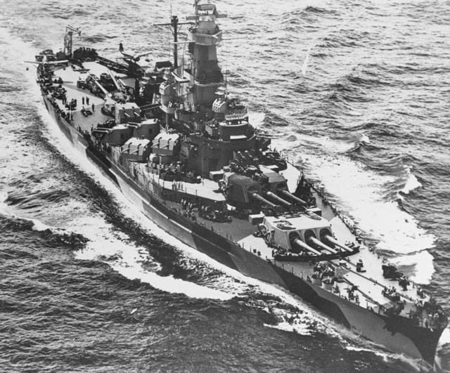 USS Indiana, commissioned on 30 April 1942 worldwartwo.filminspector.com