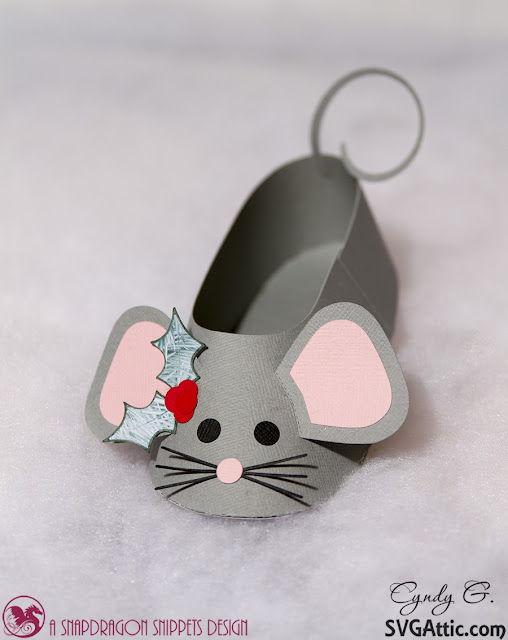 3d svg mouse ballet slipper