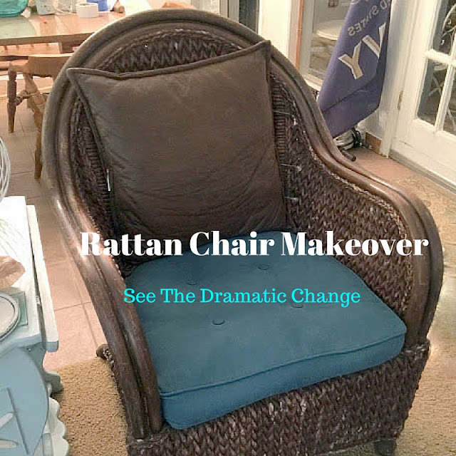 Rattan Chair Makeover see the dramatic change