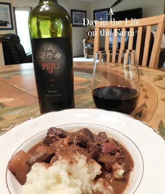 Daube de Boeuf À la Gasconne with wine