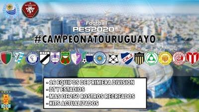 PES 2020 PS4 Option File Campeonato Uruguayo V2
