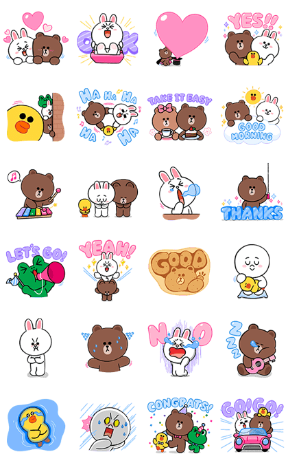 LINE Characters: Cute and Soft Sounds