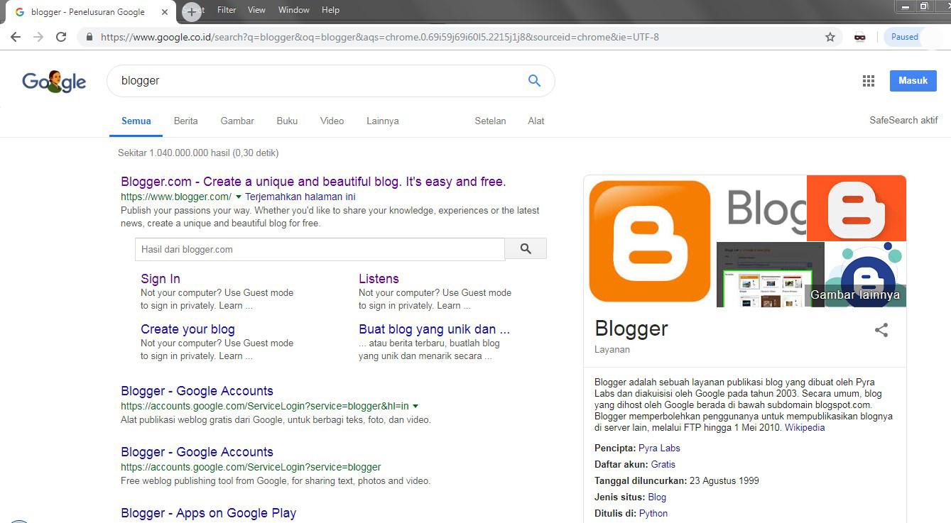 Cara Membuat Blog Pribadi Keren Gratis di Blogger