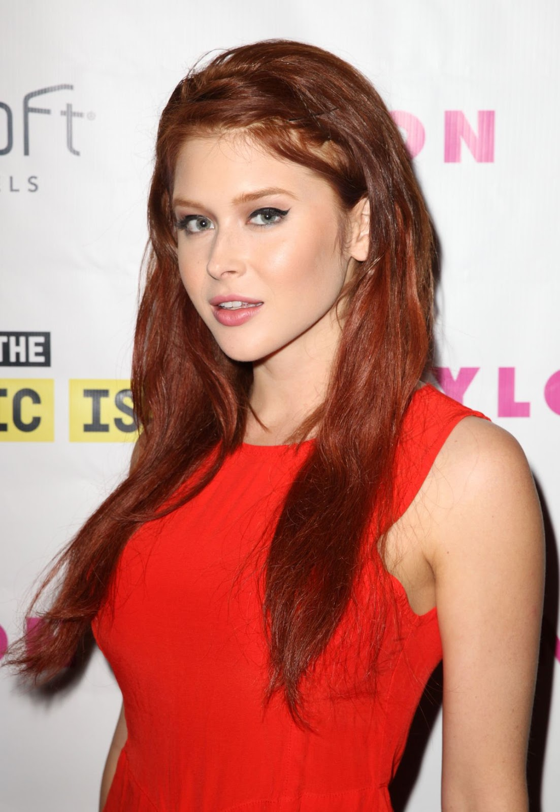 HQ Photos of Renee Olstead in red dress At Nylon Magazine Music Issue Party In Los Angeles